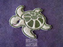 Hímzett teknős