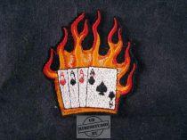 Hímzett lángoló poker