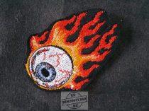 Lángoló szemgolyó felvarró