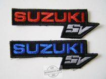 Hímzett Suzuki sv logó