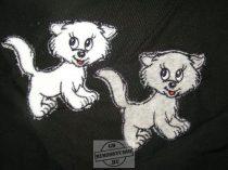 Hímzett cica