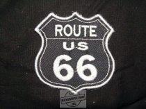 Hímzett Route 66 logó