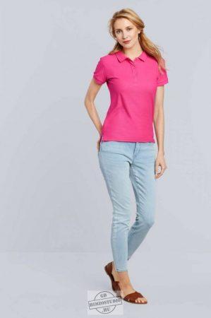 Gildan női galléros póló