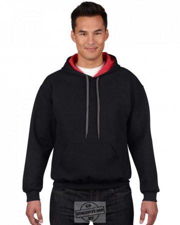 Gildan kétszínű kapucnis pulóver