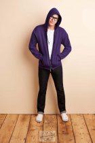 Kapucnis zippzáros pulóver