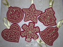 Hímzett karácsonyfadísz 3