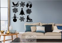 Karácsonyi dekor 9 db 2