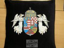 Angyalos címeres párna