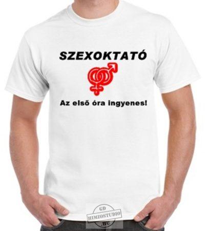 Sexoktató póló