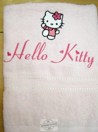 Hímzett Hello Kitty törölköző