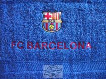 Hímzett Barcelona törölköző