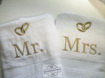 Hímzett esküvői törölköző 2
